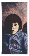 Young Girl In Blue Sweater Beach Towel