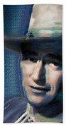 Young John Wayne Pop 2 Beach Towel