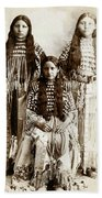 Young Kiowa Belles 1898 Beach Towel