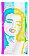 Young Marilyn Soft Pastels Impression Beach Towel