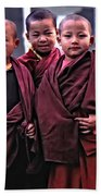Young Monks II Beach Towel