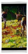 Young Moose In Autumn Beach Towel