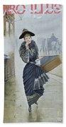 Young Parisian Hatmaker Beach Towel by Jean Beraud