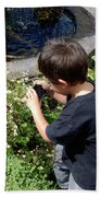Young Photographer Beach Towel