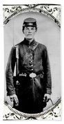 Young Union Soldier Beach Towel