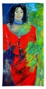 Young Woman 6431 Beach Towel