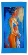 Young Woman Beach Towel