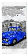 Your 1952 F 100 Pick Up In N M  Beach Towel