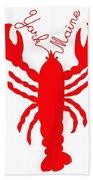 York Maine Lobster With Feelers Beach Towel