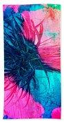 Yucca Abstract Pink Blue Green Beach Towel