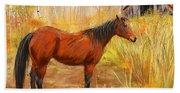 Yuma- Stunning Horse In Autumn Beach Towel