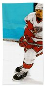 Yzerman Stick Beach Towel