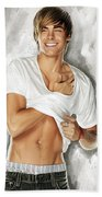Zac Efron Artwork Beach Towel