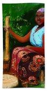 Zambia Woman Beach Towel
