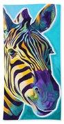 Zebra - Sunrise Beach Towel
