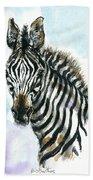 Zebra 1 Beach Towel