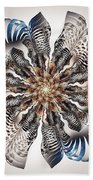 Zebra Flower Beach Towel