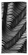Zebra Folds Beach Towel