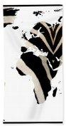 Zebra Fur World Map Beach Towel