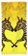 Zebra Heart Beach Towel