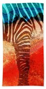 Zebra Love - Art By Sharon Cummings Beach Towel by Sharon Cummings