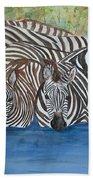 Zebra Pool Beach Towel