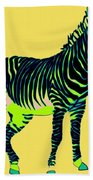 Zebra Pop Art Beach Towel