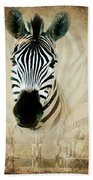 Zebra Profile Beach Towel