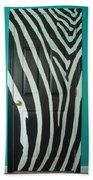 Zebra Stripe Mural - Door Number 1 Beach Towel