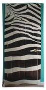 Zebra Stripe Mural - Door Number 2 Beach Sheet