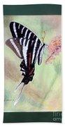Zebra Swallowtail Butterfly By George Wood Beach Towel
