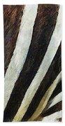 Zebra Texture Beach Towel by Ayse Deniz