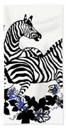 Zebras At Play Beach Towel