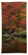 Zen Garden Reflected Beach Towel
