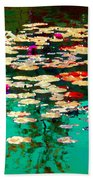 Zen Garden Water Lilies Pond Serenity And Beauty Lily Pads At The Lake Waterscene Art Carole Spandau Beach Towel