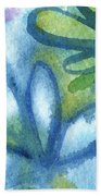 Zen Leaves Beach Towel