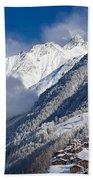 Zermatt Mountains Beach Towel by Brian Jannsen