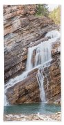 Zigzag Waterfall Beach Towel
