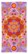 Zinna Flower Mandala Beach Towel