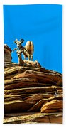 Zion Bighorn Sheep Beach Towel