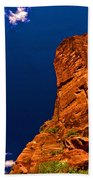 Zion National Park Oil On Canvas Beach Towel