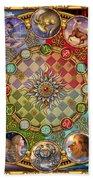 Zodiac Mandala Beach Towel