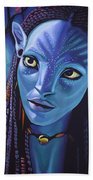 Zoe Saldana As Neytiri In Avatar Beach Towel