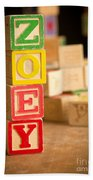 Zoey - Alphabet Blocks Beach Towel