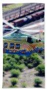 Zoo Flying Beach Towel by Paul Job