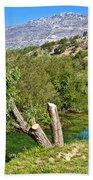 Zrmanja River And Velebit Mountain Beach Towel