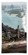 Zug Island Industrial Area Of Detroit Beach Towel