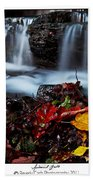 Autumnal Falls Beach Towel