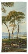 Landscape With Harlech Castle Beach Towel