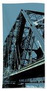Mississippi River Rr Bridge At Memphis Beach Towel